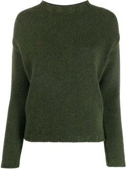 long-sleeve fitted sweater - Grey