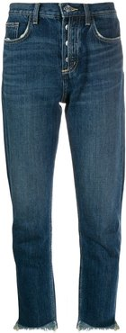 straight-leg cropped jeans - Blue