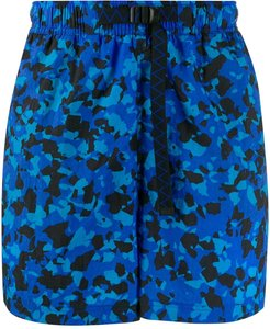 printed swim shorts - Blue