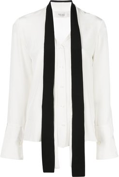 tie-neck blouse - White