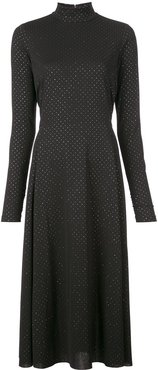 dotted maxi dress - Black