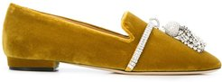 Louis crystal-embellished slipper - Yellow