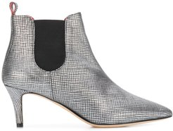 metallic-effect ankle boots - Silver