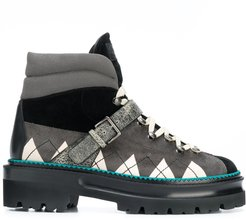 argyle high-top sneakers - Black