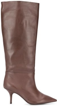 70 knee high boots - Brown