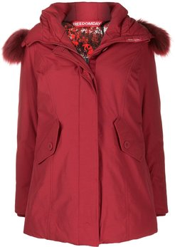 chamois padded jacket - Red