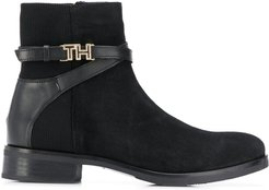 hardware detail ankle boots - Black