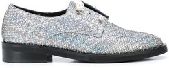 Fernanda glitter derby shoes - Silver