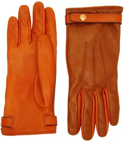 two tone gloves - Brown