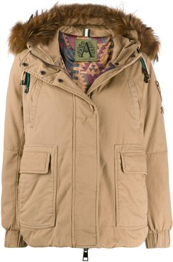 Wange hooded coat - Brown