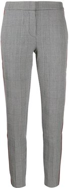 check pattern trousers - Grey