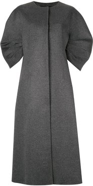 Crescent sleeved coat - Grey