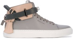 high-top padlock sneakers - Grey