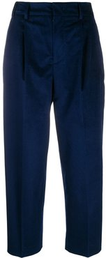 cropped-length tailored trousers - Blue