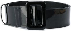 varnished finish belt - Black