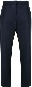 stud-detailing tailored trousers - Blue