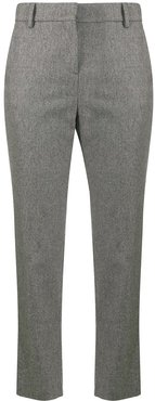 stud-detailing tailored trousers - Grey