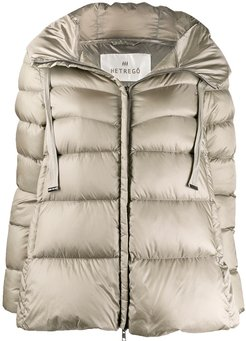 Amy feather down puffer jacket - NEUTRALS