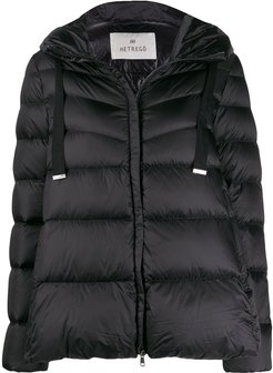Amy feather down puffer jacket - Black