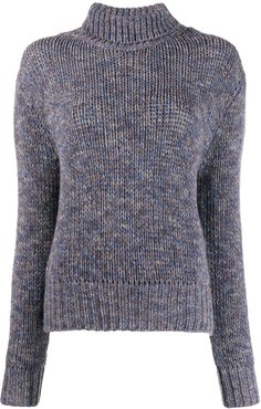 knitted cashmere jumper - Blue