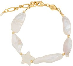 Dolores beaded pearl bracelet - GOLD