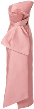 sleeveless bow gown - Pink