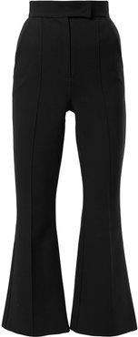 cropped flared trousers - Black