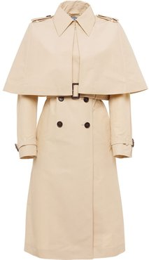 layered cape trench coat - NEUTRALS
