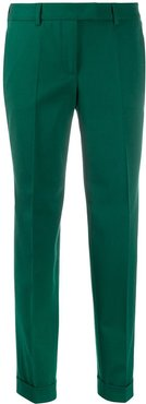slim-fit tailored trousers - Green