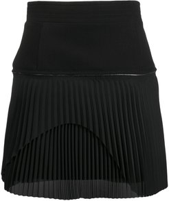 zipped pleated skirt
