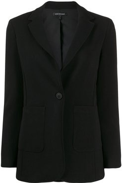 fitted single-breasted blazer - Black