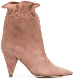 ruffle detail boots - PINK