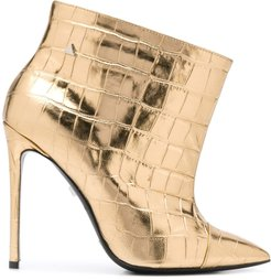Look Crok embossed ankle boots - GOLD