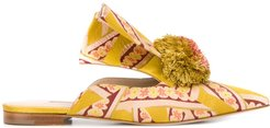 pompom detail mules - Yellow