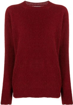 knitted jumper - Red