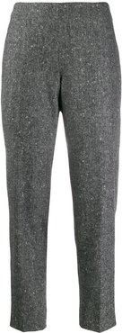 tapered cropped trousers - Grey
