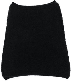 knitted snood scarf - Black