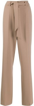 belted tailored trousers - Neutrals
