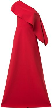 one shoulder Anysia gown - Red