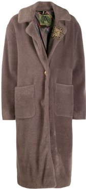 button-front coat - Neutrals