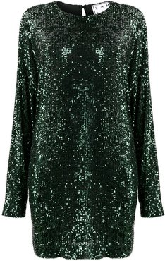 relaxed fit sequin dress - Green