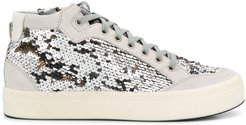 sequin high-top sneakers - Grey