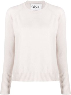 crew neck jumper - Neutrals
