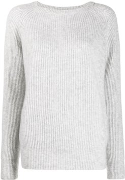 ribbed knit jumper - Grey