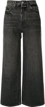 high-rise wide-leg jeans - Grey