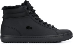 logo high-top sneakers - Black