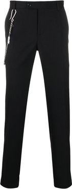 tailored slim fit trousers - Black