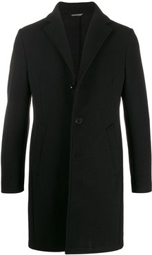 single breasted coat - Black