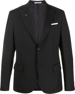 fitted tailored blazer - Black