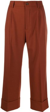 cropped palazzo trousers - Brown
